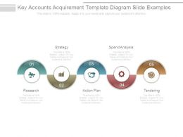 Key Accounts Acquirement Template Diagram Slide Examples