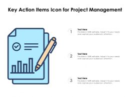 Key Action Items Icon For Project Management