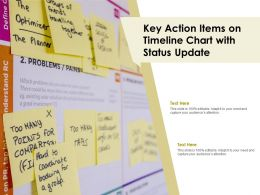 Key Action Items On Timeline Chart With Status Update