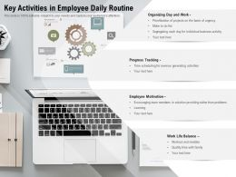 Key Activities In Employee Daily Routine