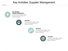Key Activities Supplier Management Ppt Powerpoint Presentation Slides Background Image Cpb