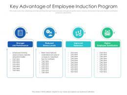 Key Advantage Of Employee Induction Program
