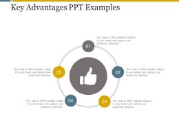 Key Advantages Ppt Examples