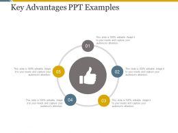 Key Advantages Ppt Examples