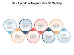 Key Agenda Of Program Kick Off Meeting