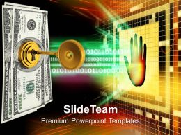 Key And Money Protection Business Powerpoint Templates Ppt Themes And Graphics
