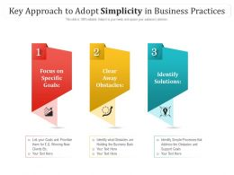 Key Approach To Adopt Simplicity In Business Practices