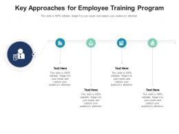 Key Approaches For Employee Training Program Infographic Template