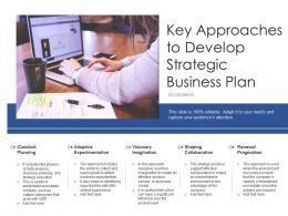 Key Approaches To Develop Strategic Business Plan