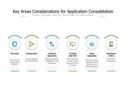 Key Areas Considerations For Application Consolidation