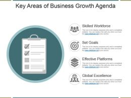 Key Areas Of Business Growth Agenda Ppt Design Templates