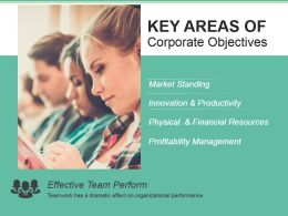 Key Areas Of Corporate Objectives Powerpoint Slide Deck Samples