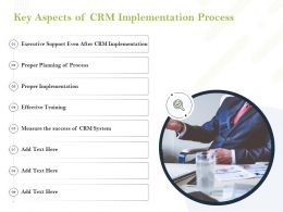 Key Aspects Of CRM Implementation Process Ppt Powerpoint Portfolio Templates