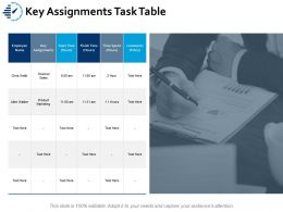 Key Assignments Task Table Ppt Portfolio Example Topics