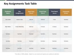 Key Assignments Task Table Ppt Slides Master Slide