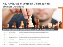 Key Attributes Of Strategic Approach For Business Decisions