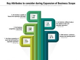 Key Attributes To Consider During Expansion Of Business Scope