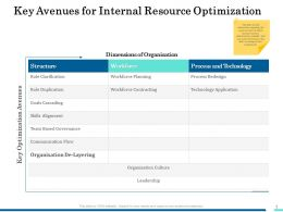 Key Avenues For Internal Resource Optimization Ppt Introduction
