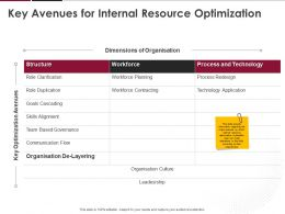 Key Avenues For Internal Resource Optimization Ppt Powerpoint Presentation Summary Slide