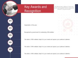 Key Awards And Recognition Ppt Powerpoint Presentation Styles Graphics Template