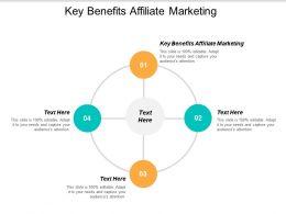 Key Benefits Affiliate Marketing Ppt Powerpoint Presentation Summary Diagrams Cpb