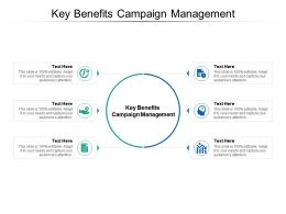 Key Benefits Campaign Management Ppt Powerpoint Presentation Summary Master Slide Cpb