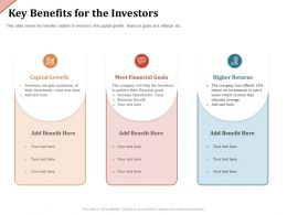 Key Benefits For The Investors Achieve Their Ppt Powerpoint Presentation Professional Visual Aids