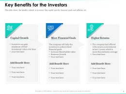 Key Benefits For The Investors Financial Goals Ppt Powerpoint Presentation Inspiration