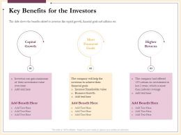 Key Benefits For The Investors Over Time Ppt Powerpoint Presentation Lists