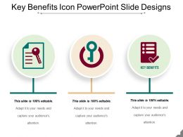 Key Benefits Icon Powerpoint Slide Designs