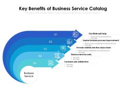 Key Benefits Of Business Service Catalog
