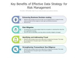 Key Benefits Of Effective Data Strategy For Risk Management