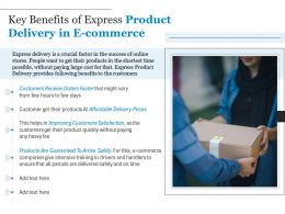 Key Benefits Of Express Product Delivery In E Commerce