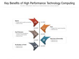 Key Benefits Of High Performance Technology Computing