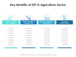 Key Benefits Of IOT In Agriculture Sector