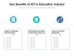 Key Benefits Of IOT In Education Industry