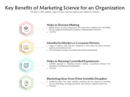 Key Benefits Of Marketing Science For An Organization