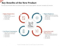 Key Benefits Of The New Product Display Sizes Ppt Powerpoint Presentation Model Smartart