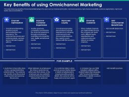 Key Benefits Of Using Omnichannel Marketing Customers Pick Powerpoint Presentation Show