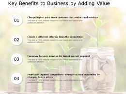 Key Benefits To Business By Adding Value