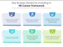 Key Busines Drivers For Investing In Hr Career Framework