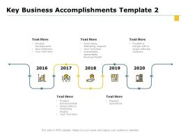 Key Business Accomplishments 2016 To 2020 Ppt Powerpoint Presentation Professional Ideas