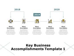 Key Business Accomplishments 2018 To 2020 Ppt Powerpoint Presentation Summary Clipart