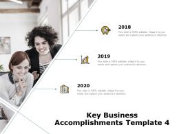 Key Business Accomplishments Management Ppt Powerpoint Presentation Infographic