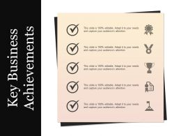 Key Business Achievements Powerpoint Images