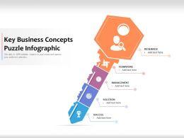 Key Business Concepts Puzzle Infographic