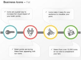 Key Business Deal Tools Financial Price Cut Down Ppt Icons Graphics