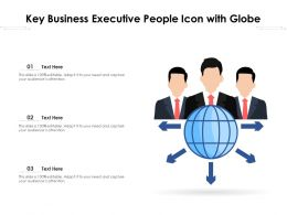 Key Business Executive People Icon With Globe