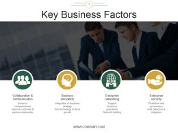 Key Business Factors Ppt Sample Presentations