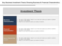 Key Business Investment Thesis Showing Business And Financial Characteristics